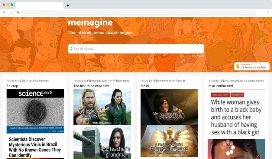 Memegine: un buscador para encontrar cientos de miles de memes