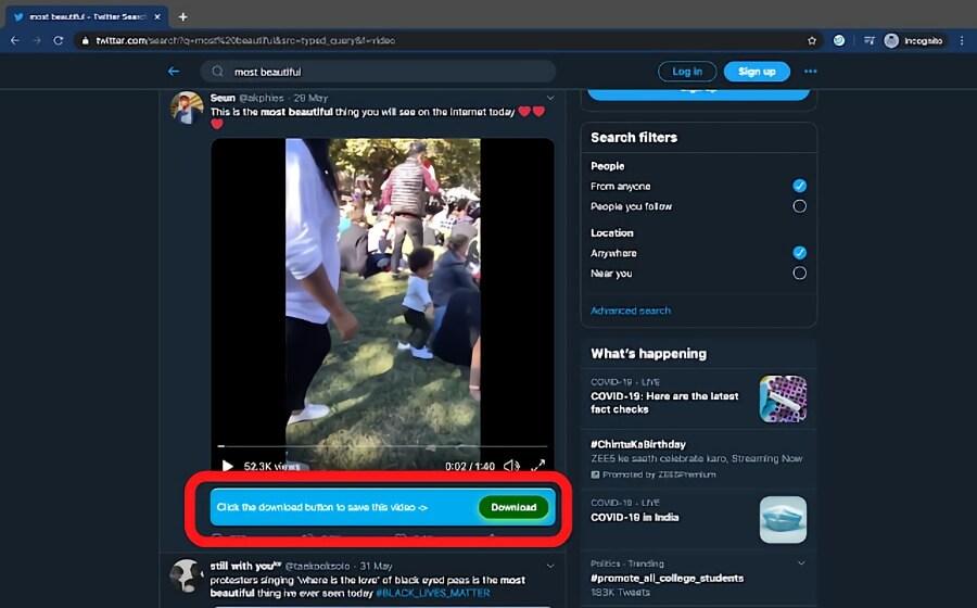 Savetweetvid: descargar vídeos y GIF en Twitter con el navegador Chrome