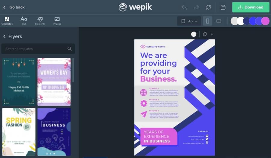 Wepik: herramienta gratuita para crear impresionantes diseños fácilmente