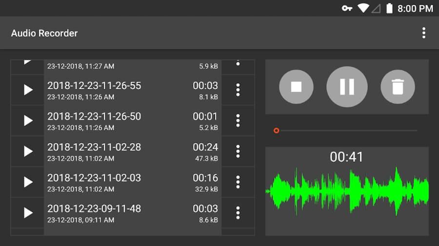 Audio Recorder: un excelente grabador de audio gratuito para Android