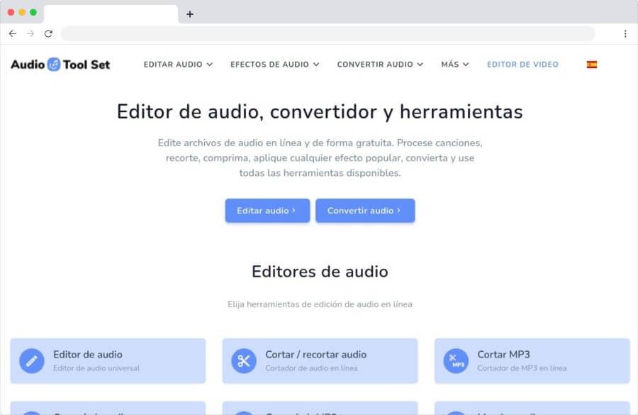 Audio Tool Set: enorme colección de herramientas para editar y convertir audio