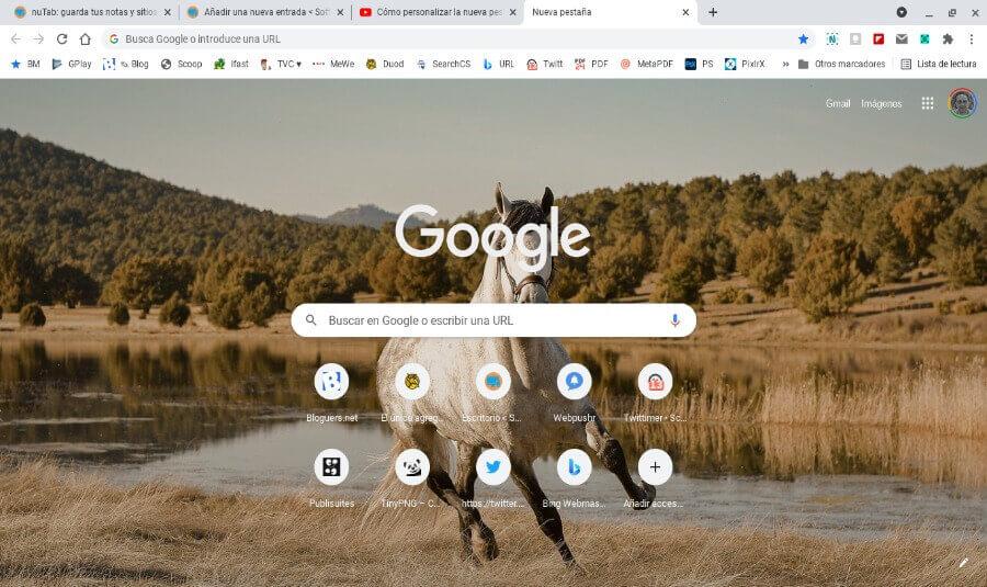 Cómo personalizar la nueva pestaña de Chrome usando tus propias imágenes
