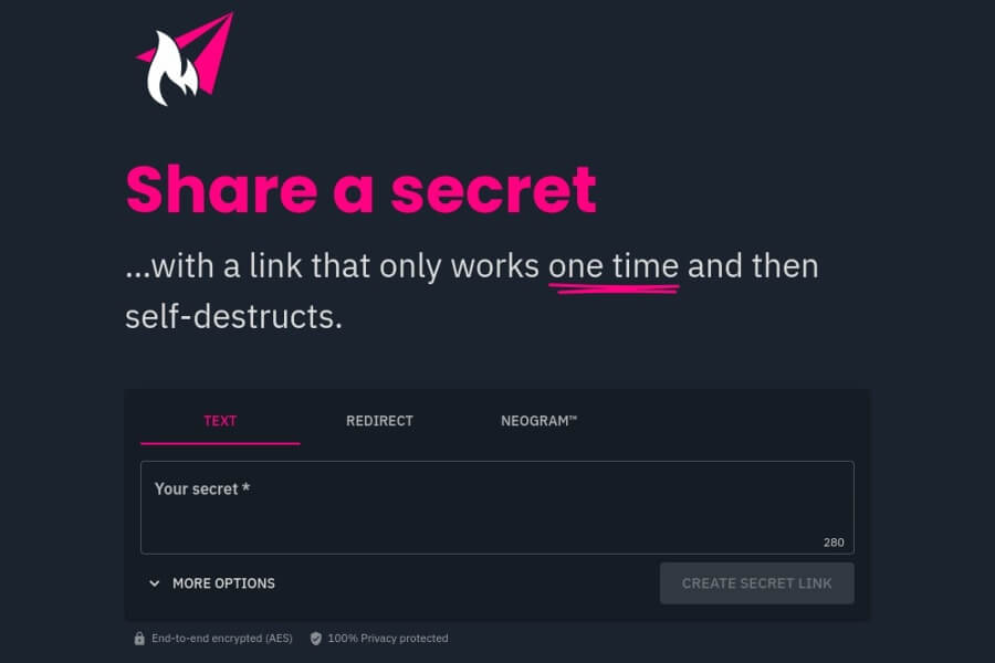 Compartir mensajes privados de forma segura y al mismo tiempo sencilla