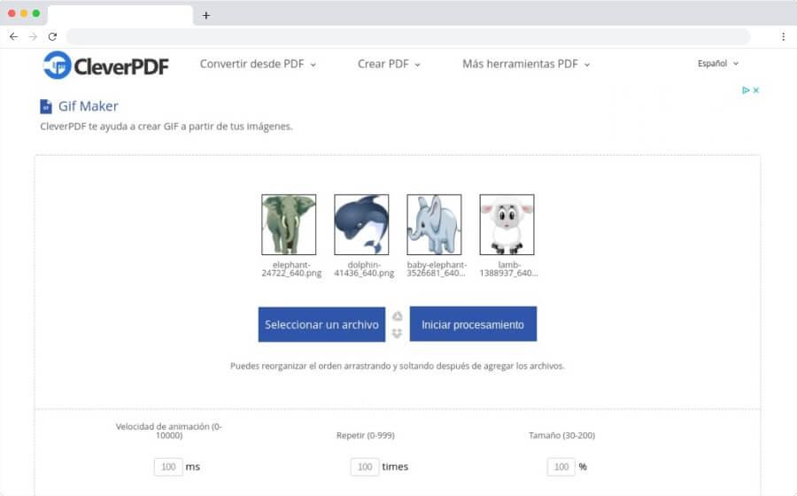 Crear gratis animaciones GIF desde el navegador con Gif Maker