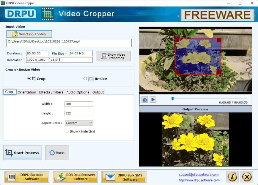 DRPU Video Cropper: software gratuito para recortar vídeos y mucho más