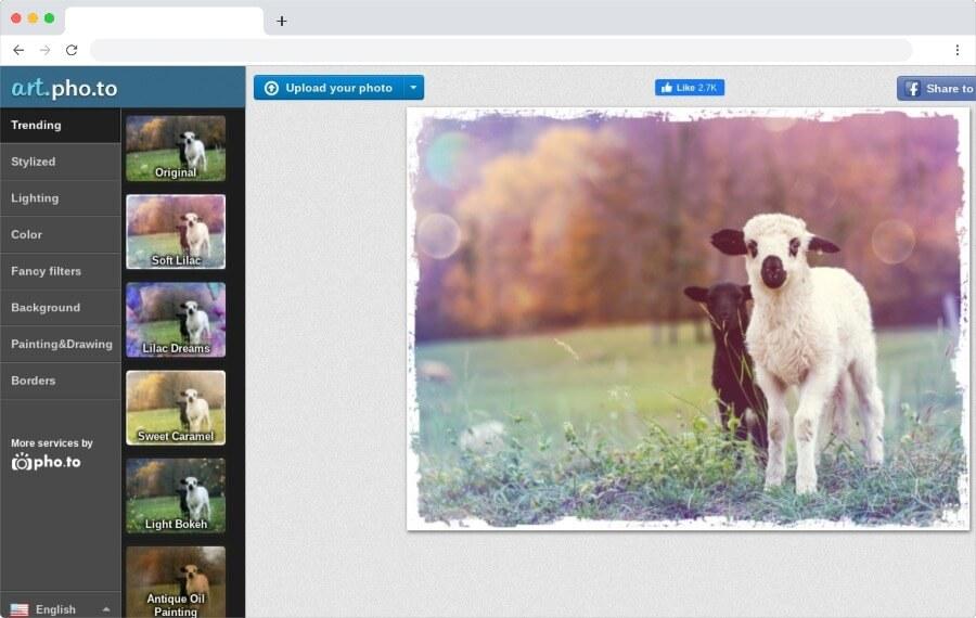 Hermosos filtros para fotos para aplicar gratis y online con un simple clic