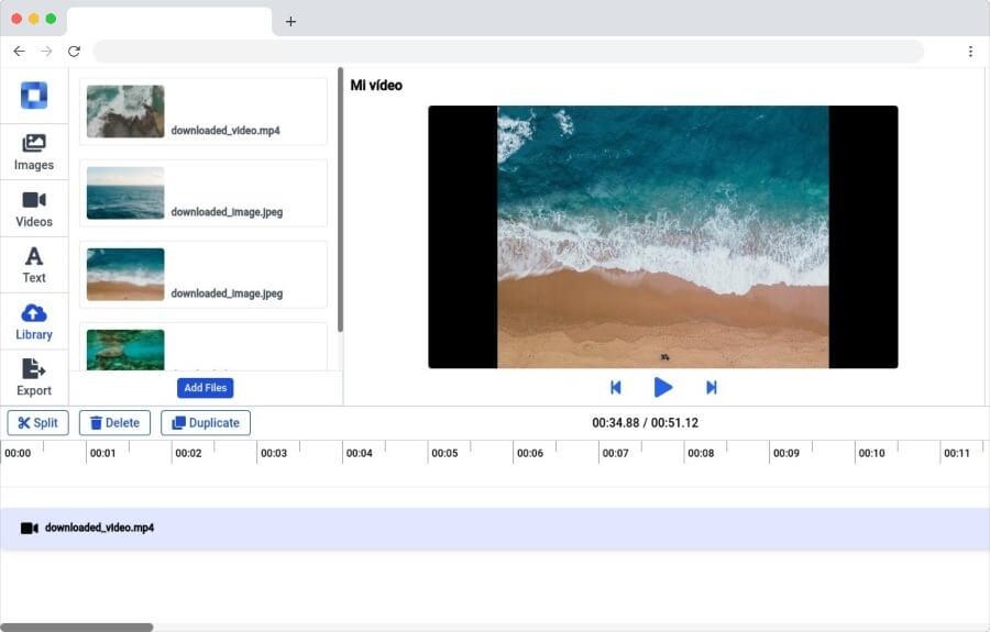 Mastershot: crear y editar vídeos en línea completamente gratis