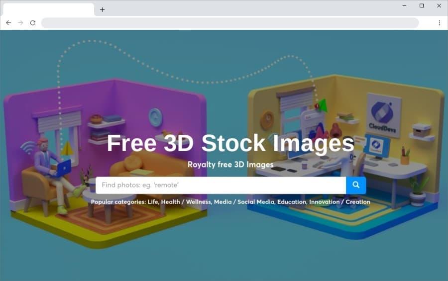 3D Bay: gran colección de bonitas ilustraciones  en 3D de uso gratuito