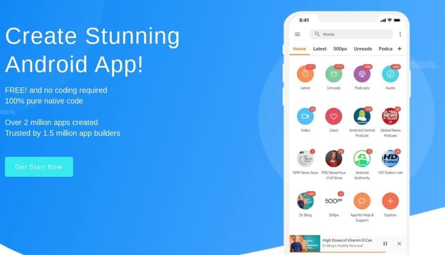Crear aplicación Android de tu blog o página gratis y sin tener que codificar