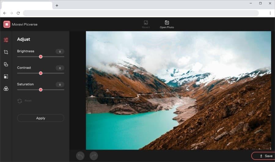 Movavi Picverse: un editor en línea y gratuito para retocar tus fotos