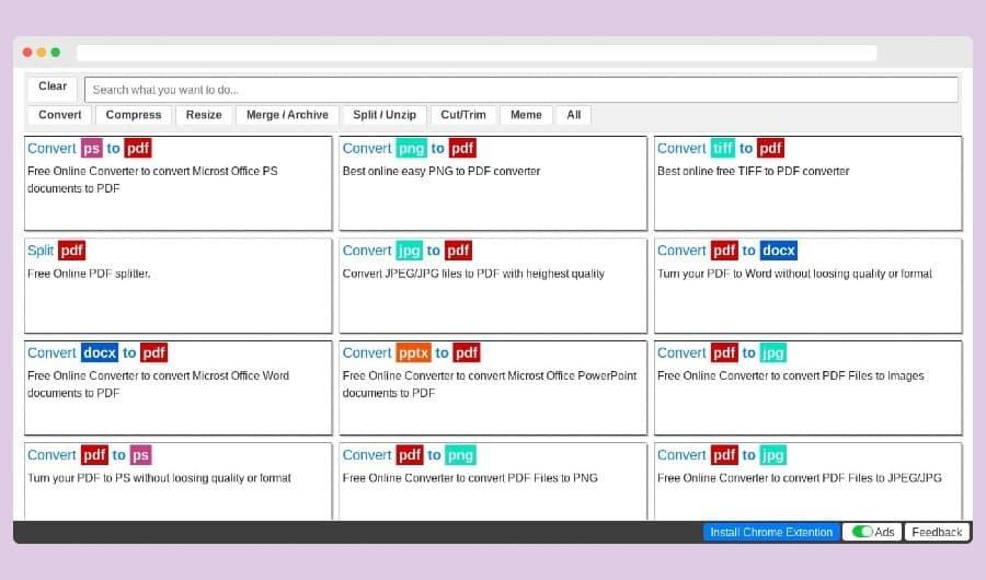 PS2PDF: herramientas para convertir y editar documentos y archivos