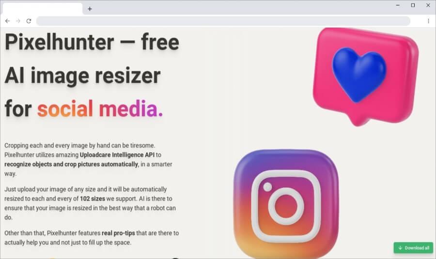 Pixelhunter: redimensionar y optimizar imágenes para las redes sociales