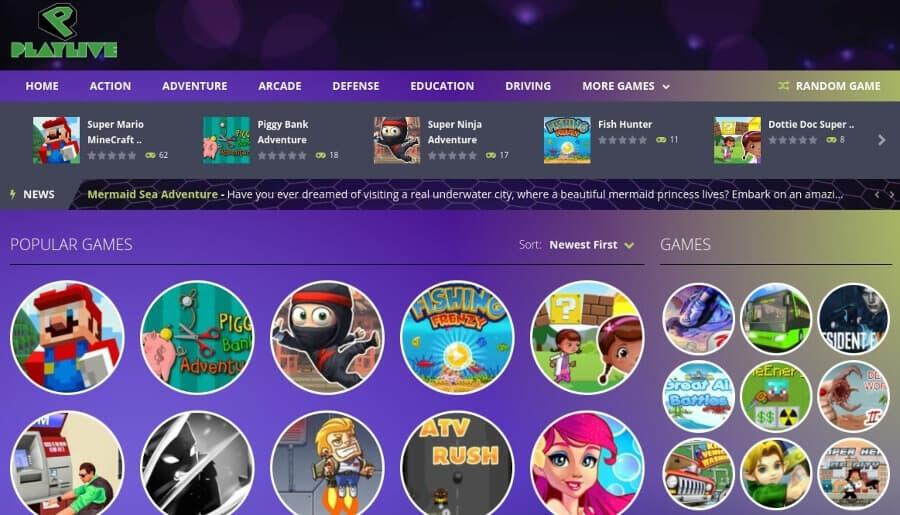 Play Live Arcade: un sitio repleto de juegos retro para jugar online
