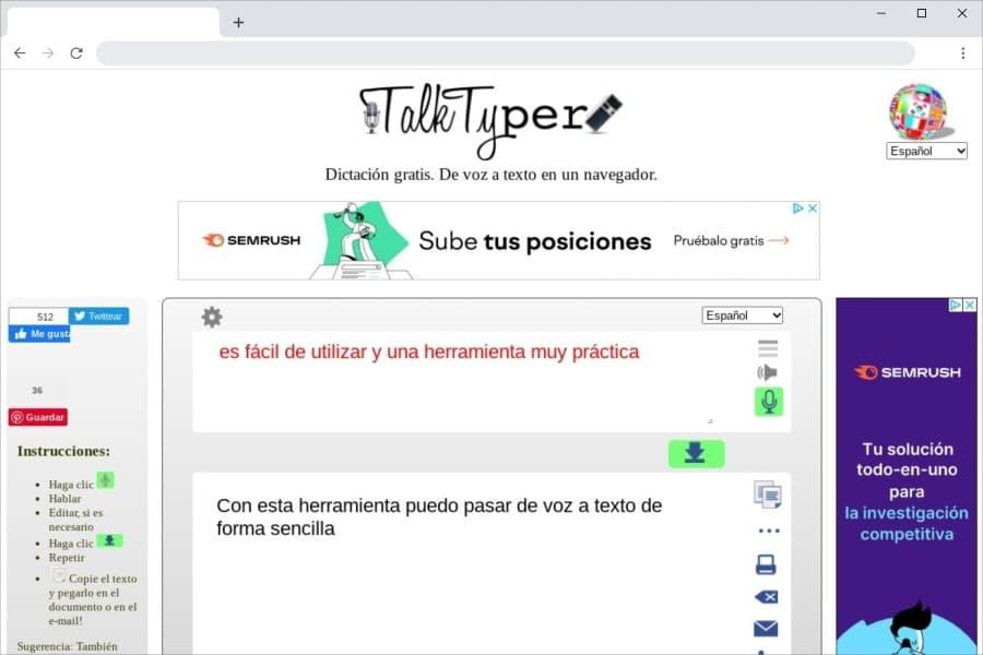 TalkTyper: aplicación web gratuita para pasar de voz a texto