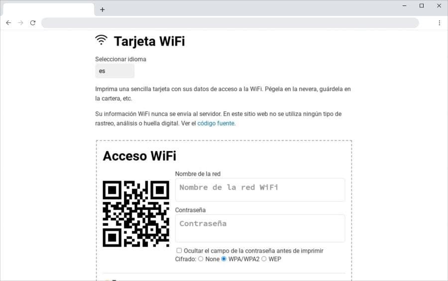 WiFi Card: crea un código QR para compartir tu red WiFi