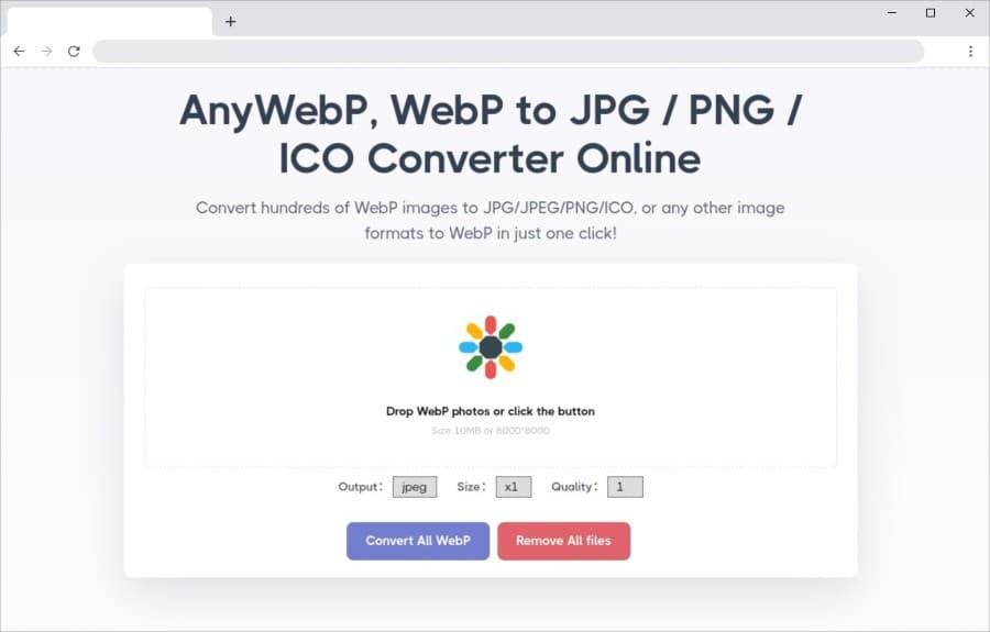 AnyWebP: herramienta para convertir imágenes WebP a otros formatos