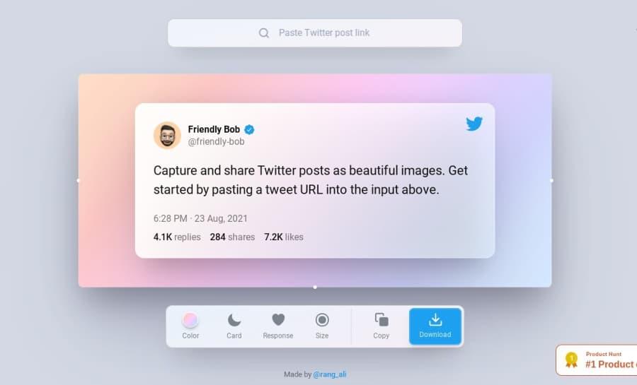 Convertir tweets en bonitas imágenes para compartir fácilmente