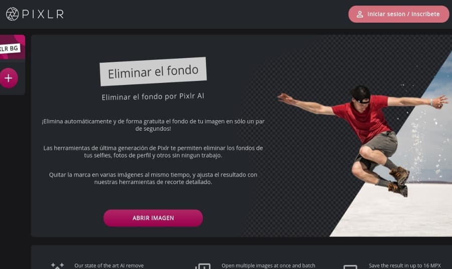 Eliminar fondo por Pixlr para remover el fondo de varias imágenes o fotos