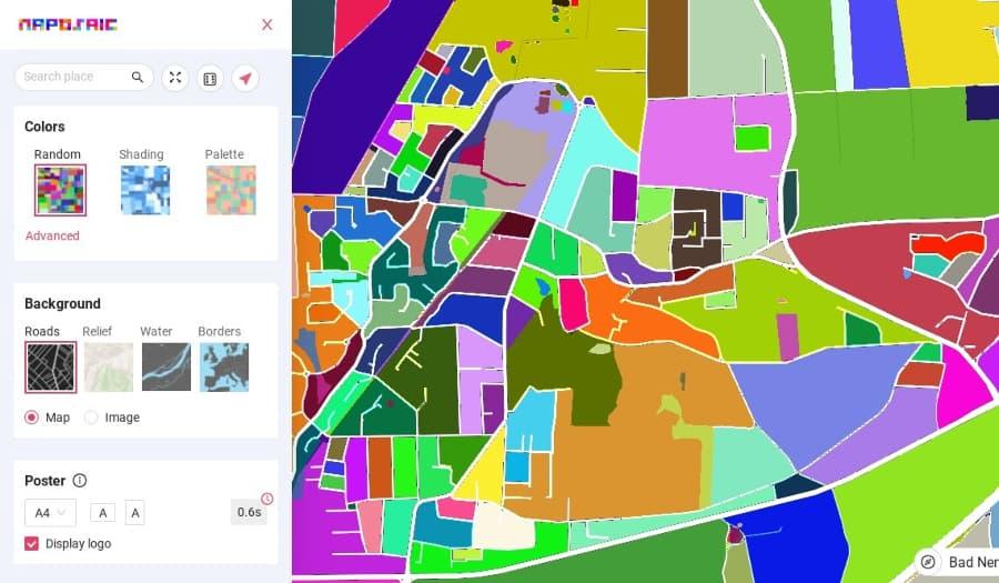 Maposaic: una herramienta web gratuita para crear coloridos mapas