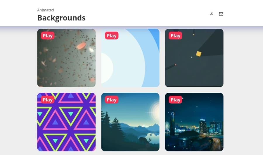 Animated Backgrounds: fondos animados gratis para páginas y proyectos web