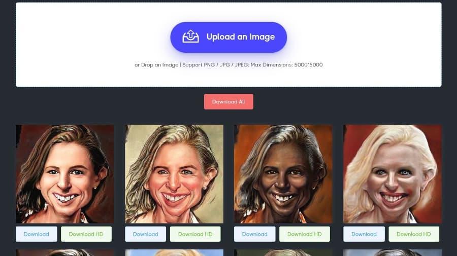 Convertir retrato en caricatura online y de forma gratuita usando IA